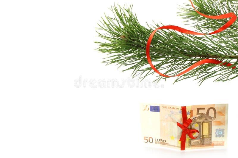 tree för present för filialgranpengar royaltyfri fotografi