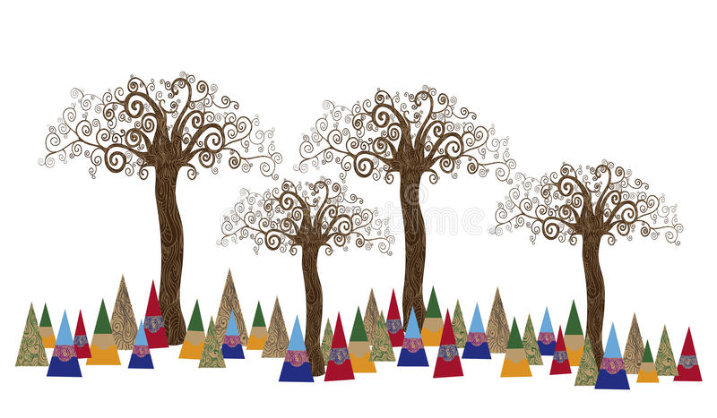 Tree forest art concept stock photos
