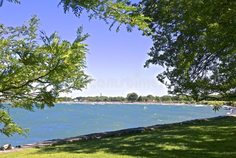 Lake Michigan beach Illinois stock image