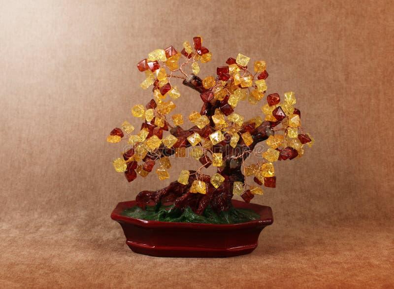 Tree of gems amber royalty free stock photos