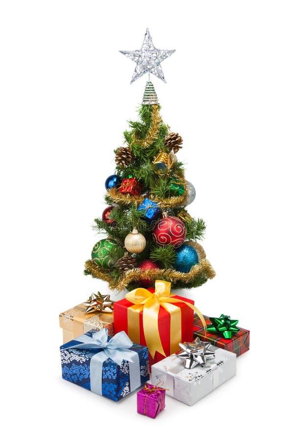 Tree&gift boxes-10 de la Navidad fotografía de archivo libre de regalías