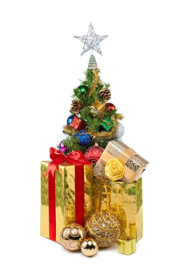Tree&gift boxes-28 de la Navidad fotografía de archivo libre de regalías