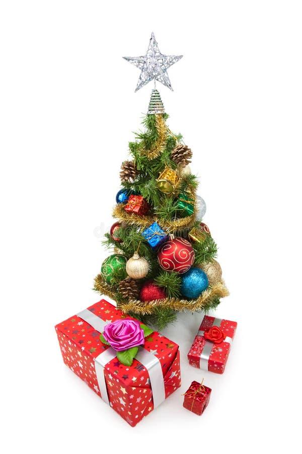 Tree&gift boxes-4 de la Navidad fotos de archivo libres de regalías