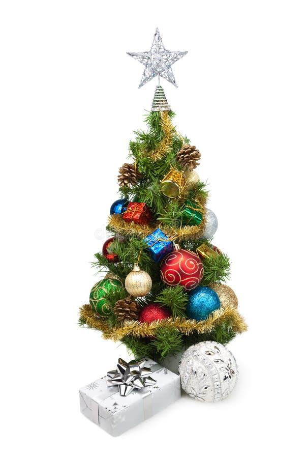 Tree&gift boxes-5 de la Navidad fotografía de archivo