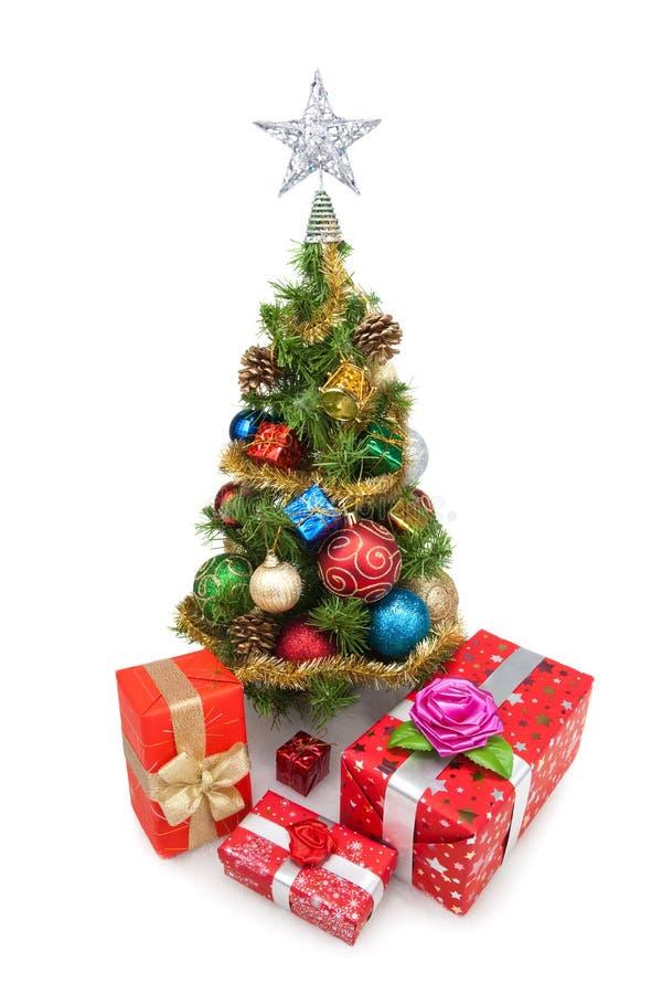 Tree&gift boxes-7 de la Navidad fotografía de archivo libre de regalías