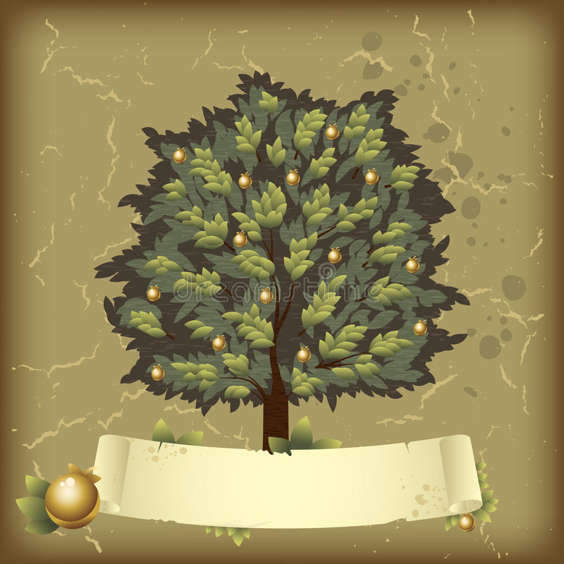 Download Tree with golden apples stock vector. Image of life, dirty - 20250807