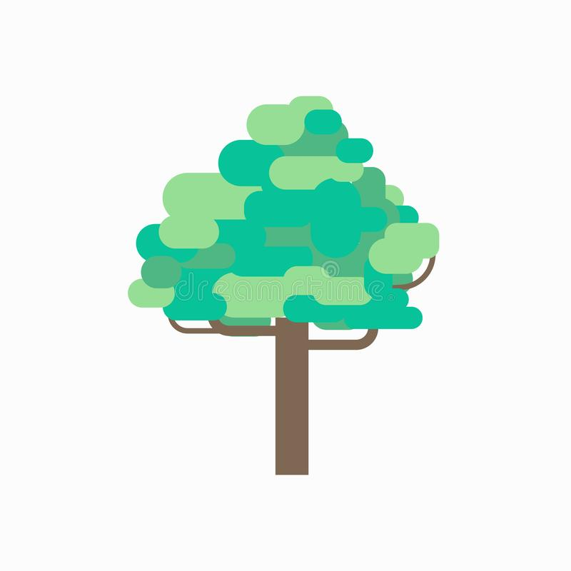 Tree graphic design vector with isolated white background.Environment plants graphic. Concept royalty free illustration