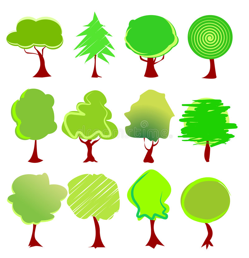 Free Tree Graphics Vector Royalty Free Stock Images - 6143339