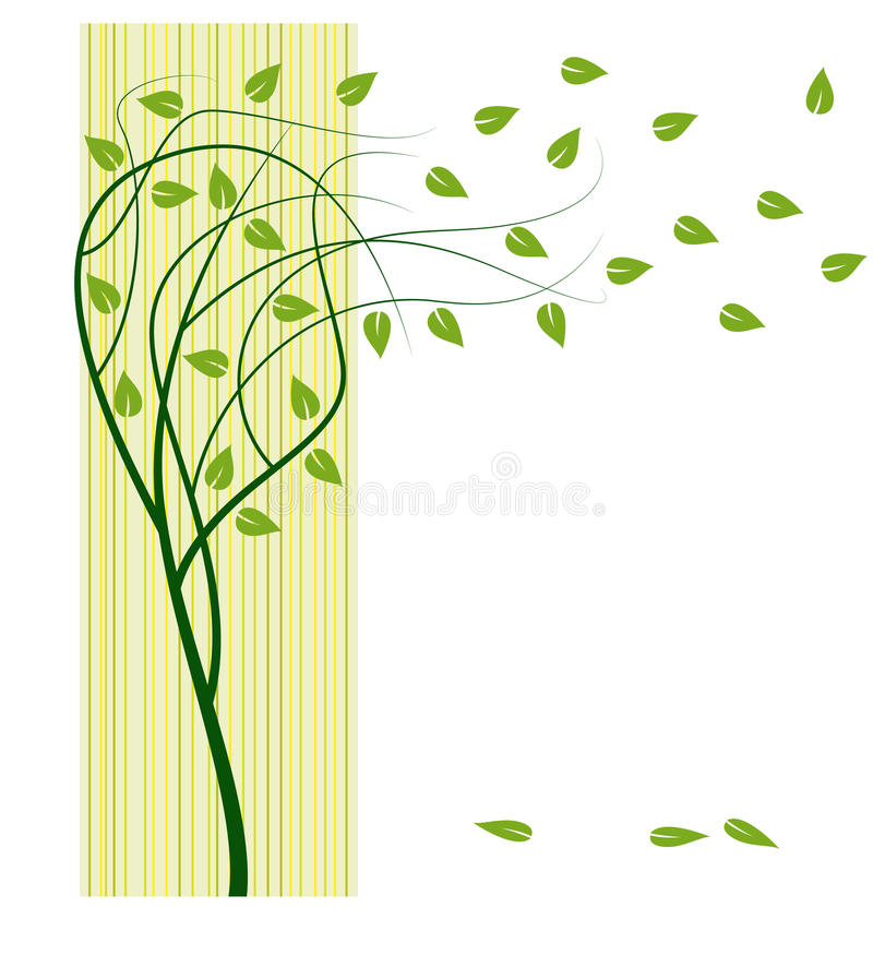Download Tree with green leafs stock vector. Illustration of branch - 18483597