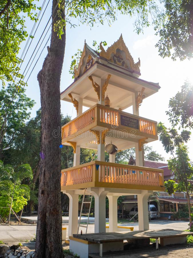 Temple pavilion,Sophon Temple rayong thailand royalty free stock photo