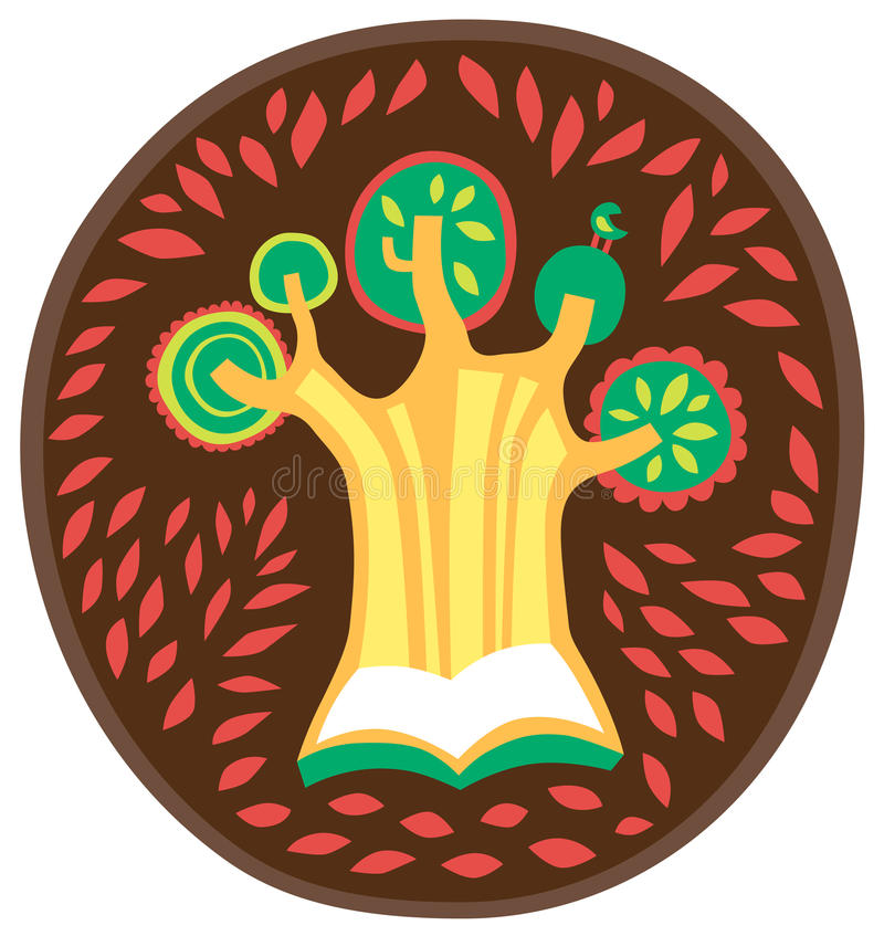 Tree Knowledge, Book Logo , Natural, Learning, Icon