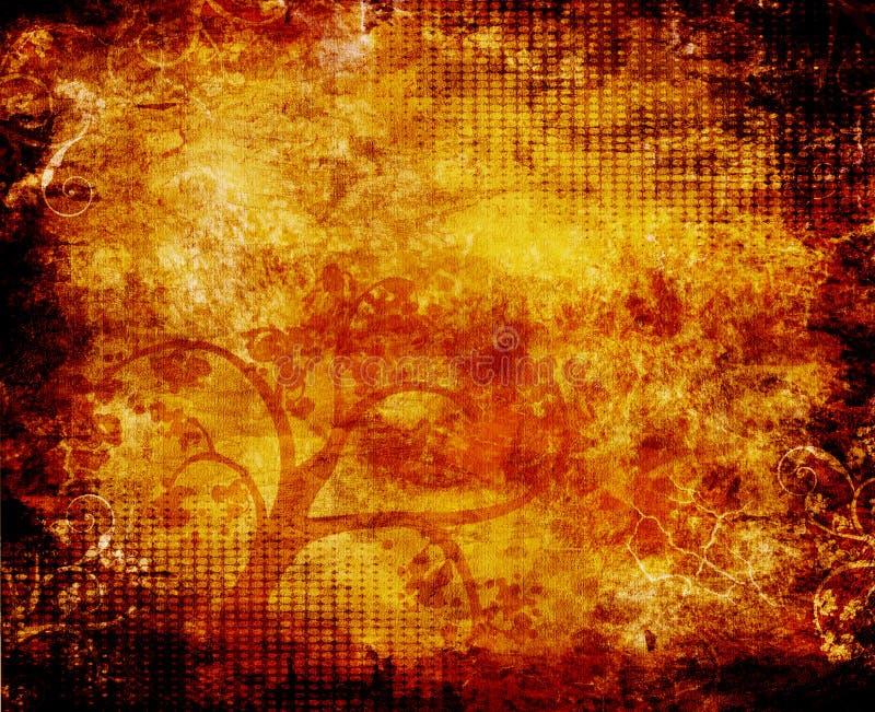 Tree Grunge Background stock illustration