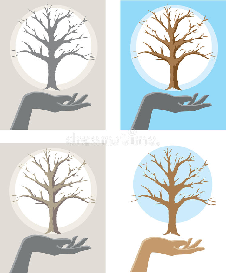 Download Tree Hand stock vector. Image of dead, forest, biology - 34449767