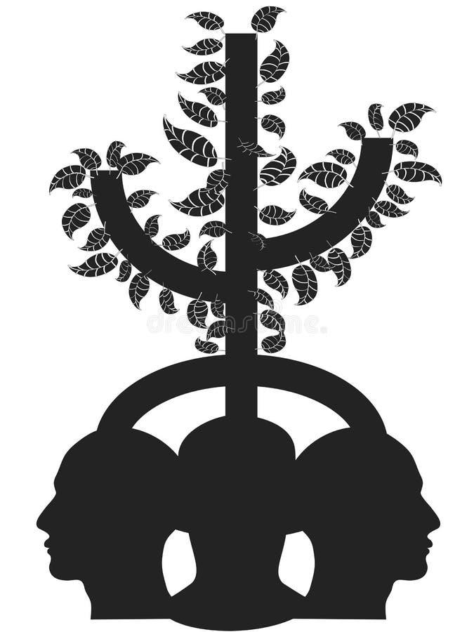 Tree head stock illustration