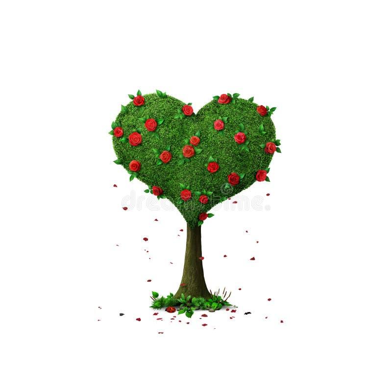 Tree Heart vector illustration