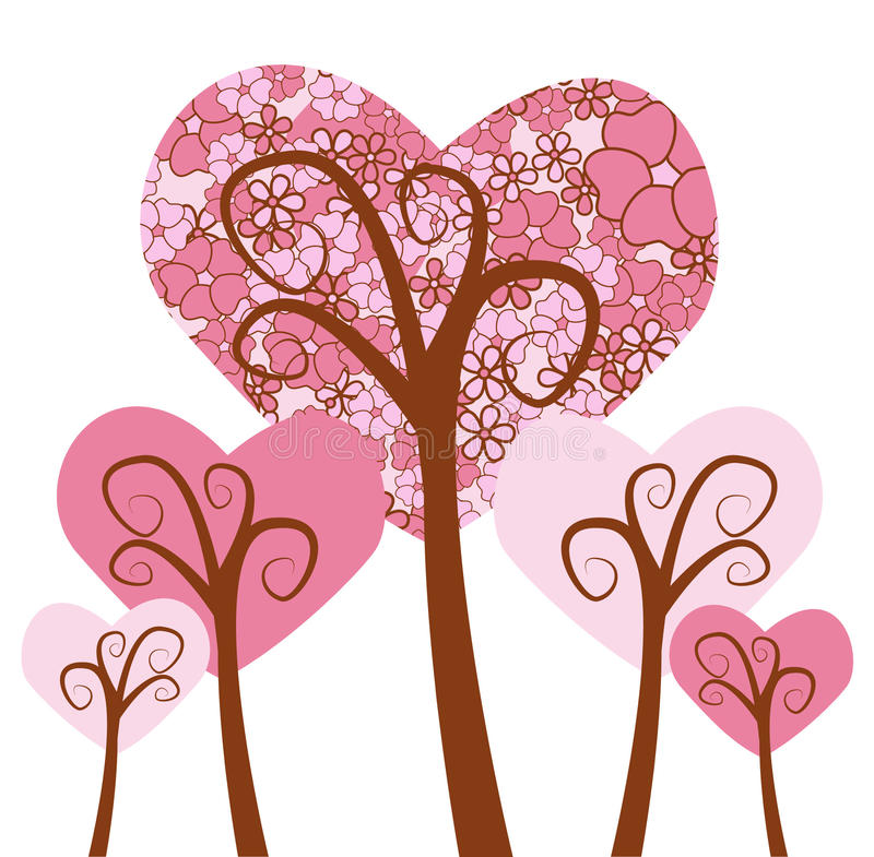 Tree Hearts Stock Images