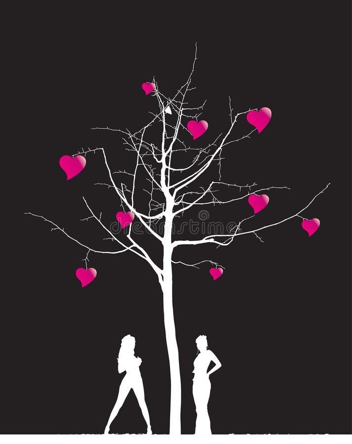 Tree_with_hearts stock photography