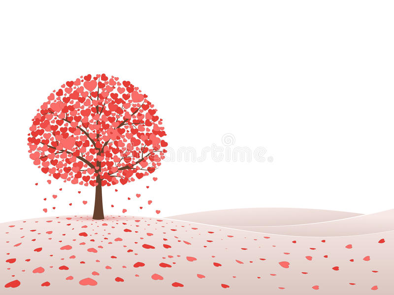Tree with hearts royalty free illustration