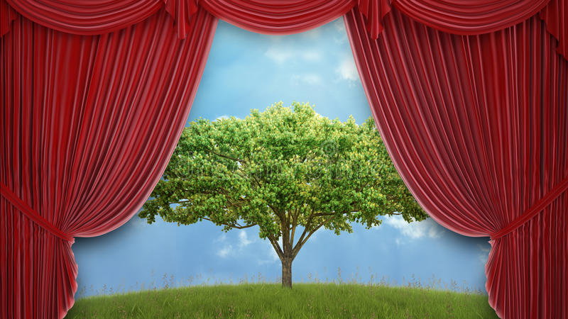 Download Tree on a hill stock image. Image of environment, mystery - 26016641