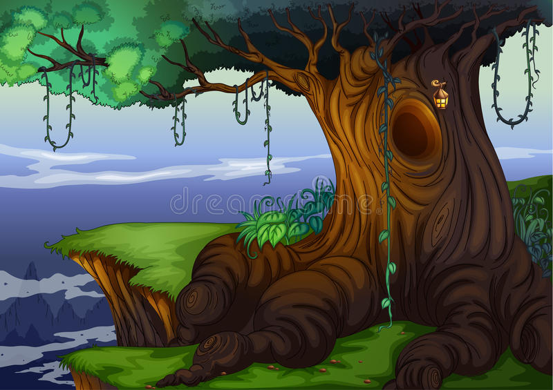 Tree hollow vector illustration