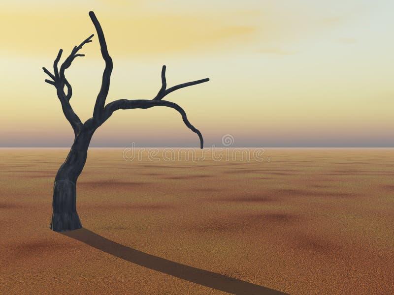 Tree on Horizon vector illustration