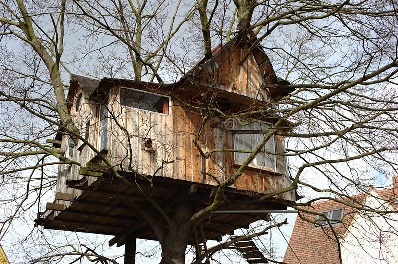 Tree house. In the south of Nuremberg Germany royalty free stock image