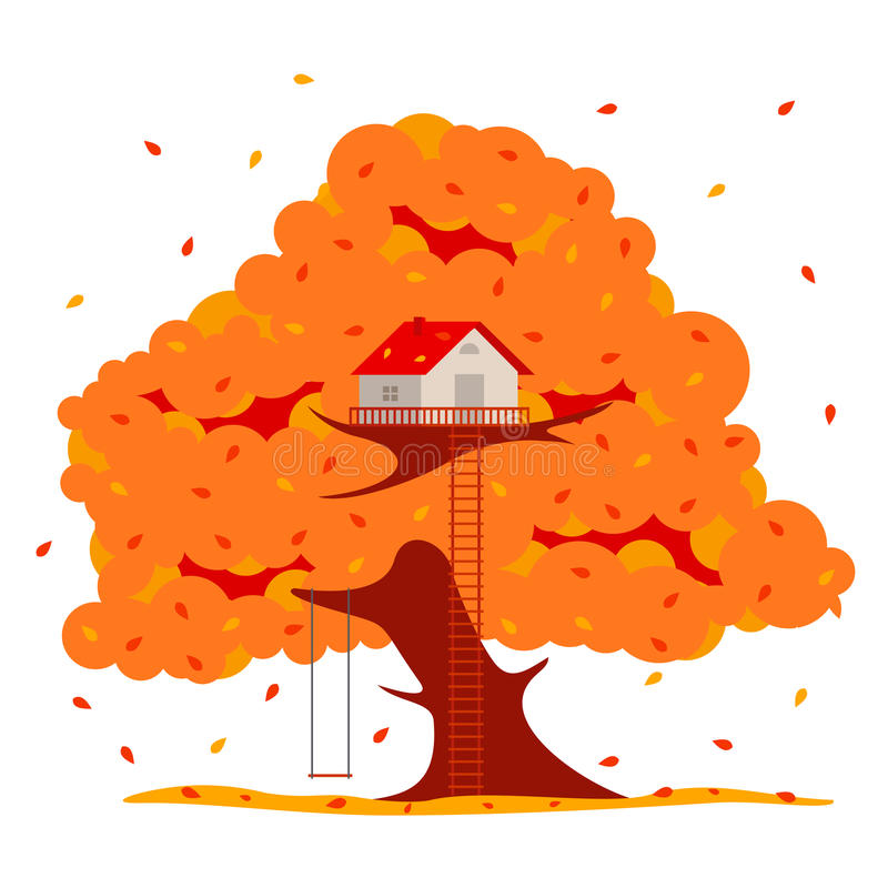 Tree house illustration vector illustration