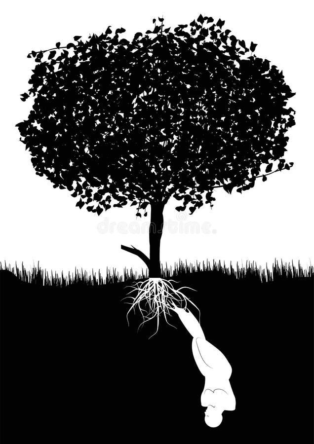 Tree and human vector illustration