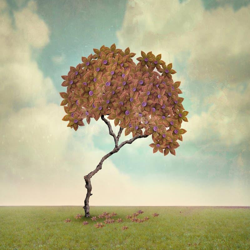 Tree i höst vektor illustrationer