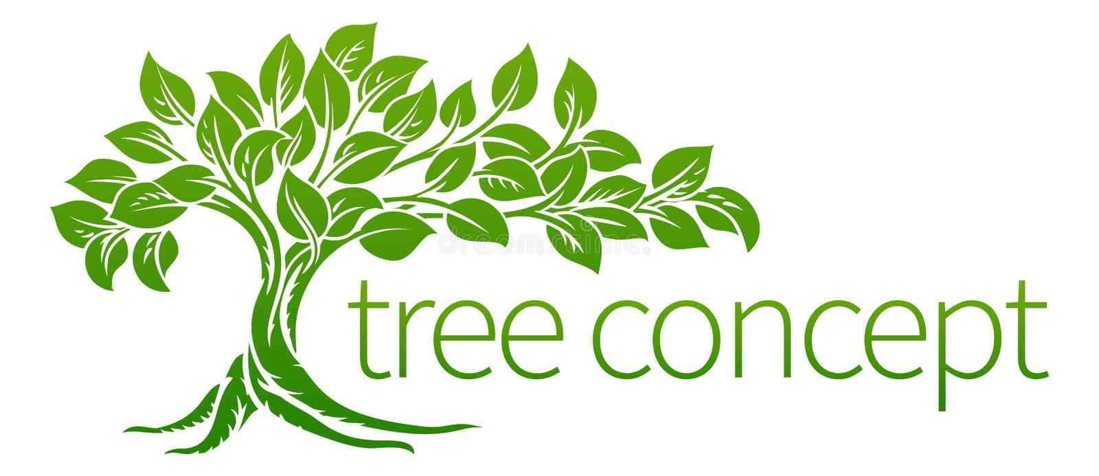Tree Icon Concept. A conceptual illustration of a tree icon vector illustration