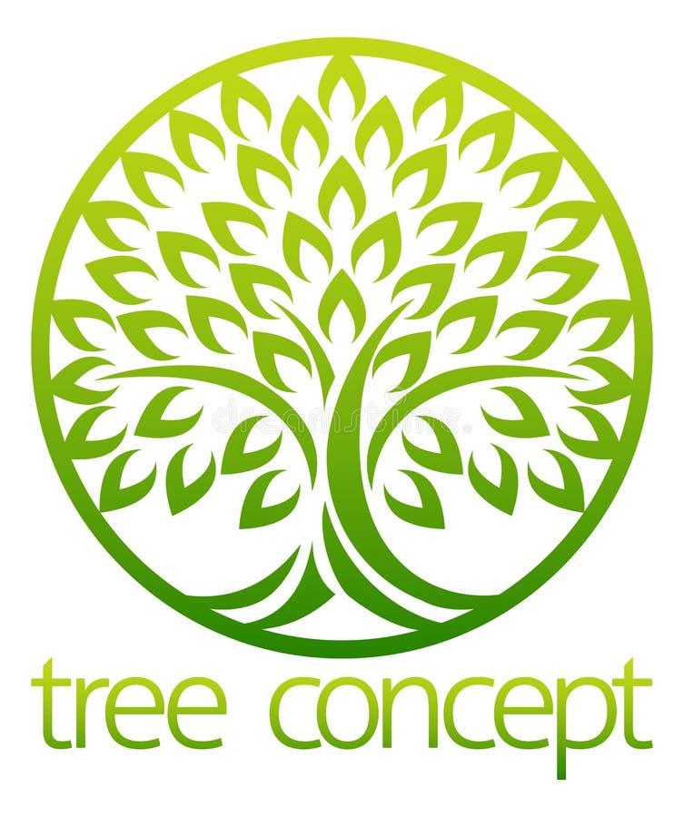 Tree Icon Concept Circle vector illustration