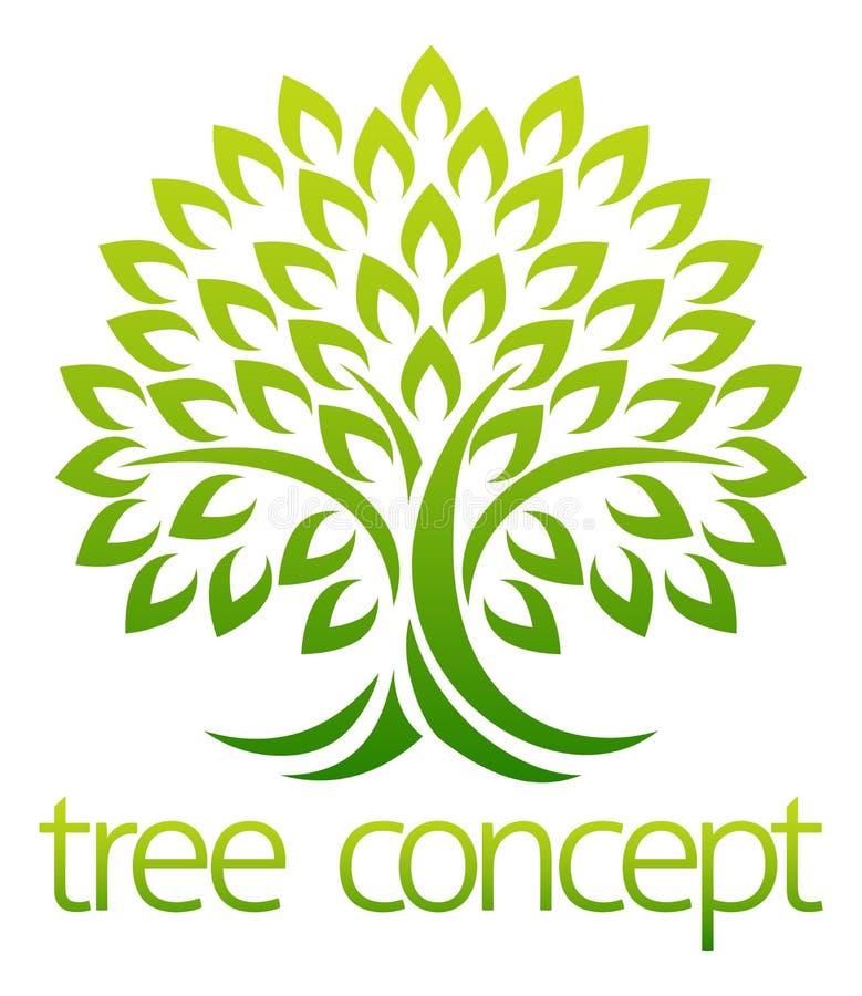 Tree Icon Concept stock illustration