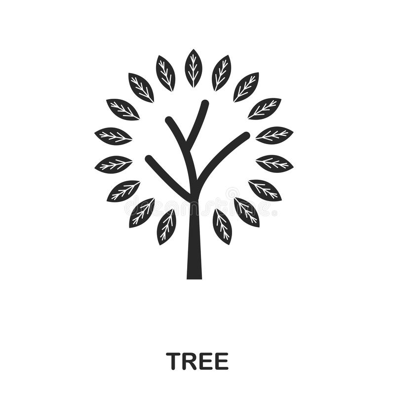 Tree icon. Line style icon design. UI. Illustration of tree icon. Pictogram isolated on white. Ready to use in web royalty free illustration