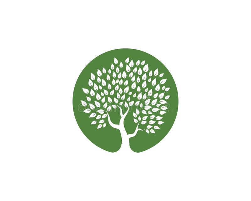 Tree icon logo template royalty free illustration
