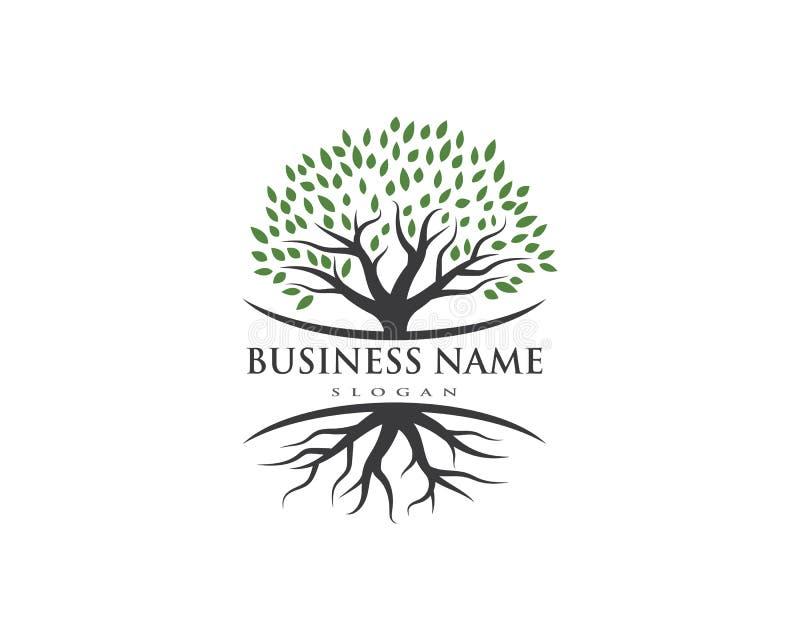 Tree icon logo template stock illustration