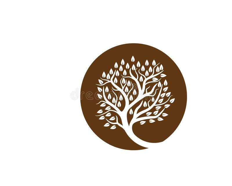 Tree icon logo. Template vector illustration royalty free illustration