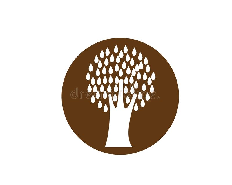 Tree icon logo stock illustration