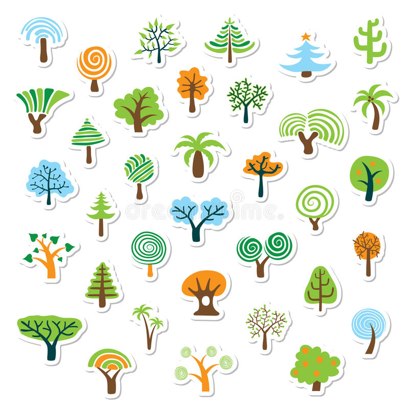 Tree Icon Set vector illustration