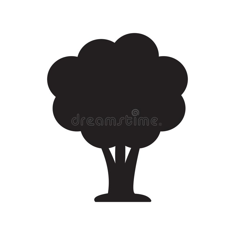 Tree icon vector stock illustration