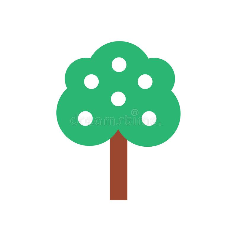 Tree icon vector sign and symbol isolated on white background royalty free illustration