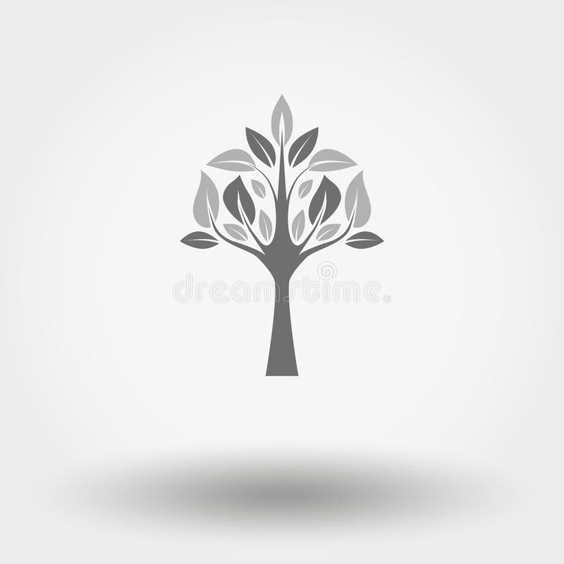 Tree icon stock illustration