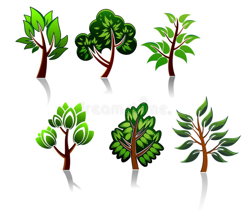 Download Tree icons stock vector. Image of object, mascot, pattern - 21919562