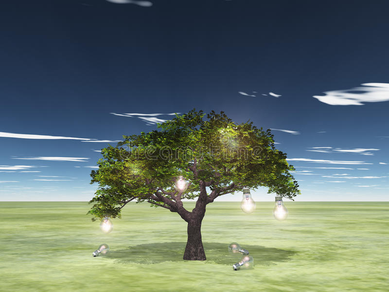 Tree of ideas stock illustration