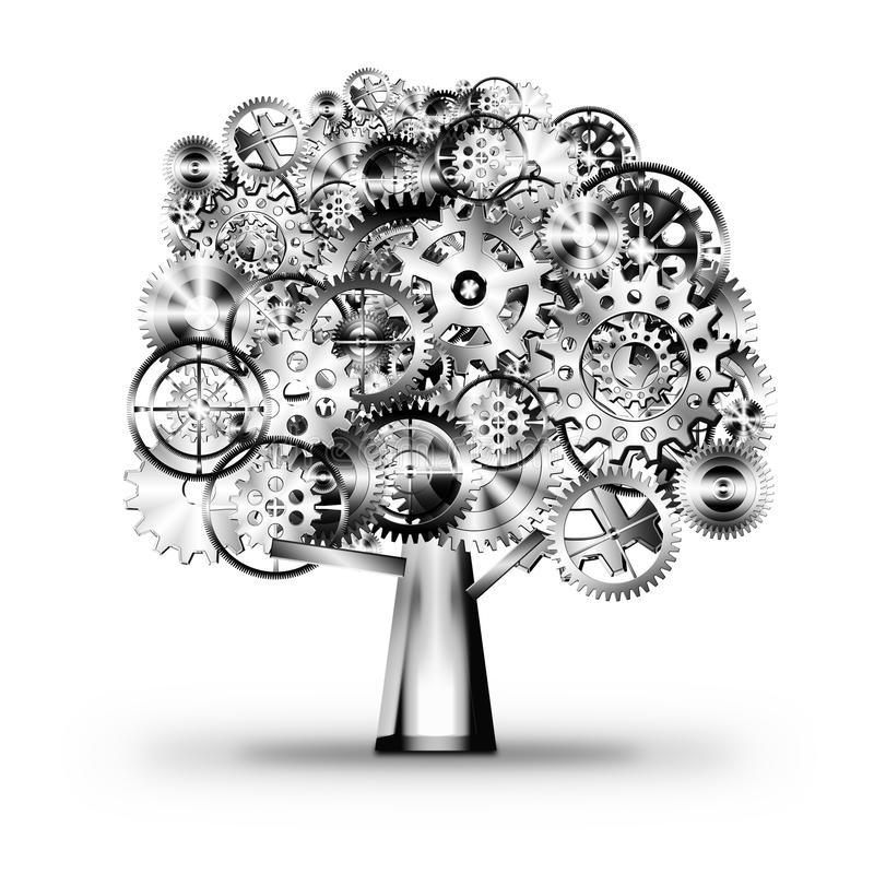 Download Tree of industrial stock illustration. Illustration of mechanism - 24993299