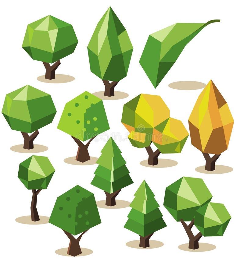 Tree Isometric set vector illustration