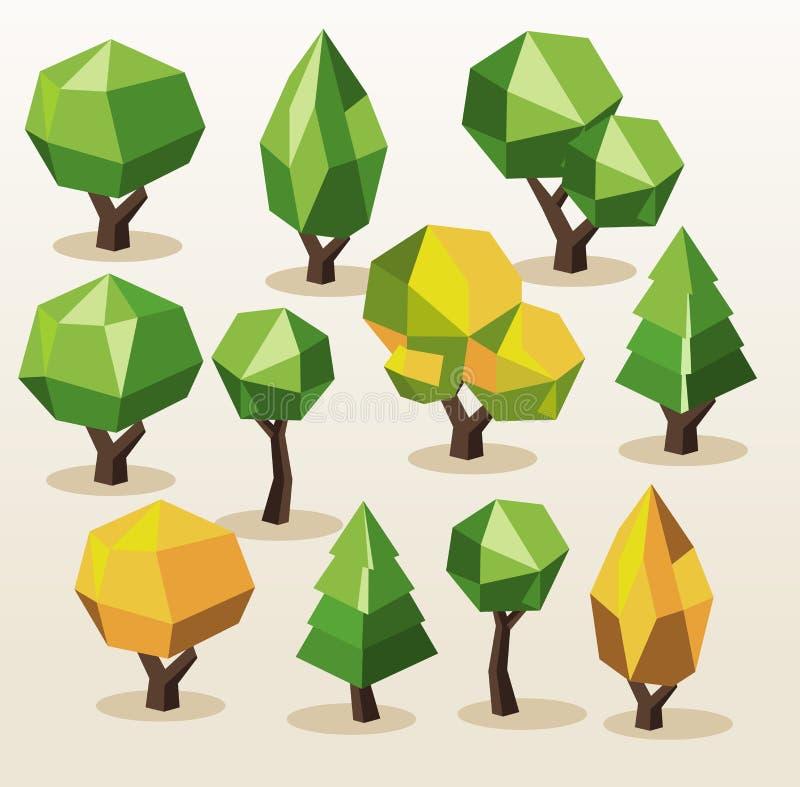 Tree Isometric set. royalty free illustration