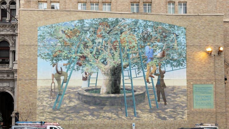`Tree of Knowledge`, a City of Philadelphia Mural Arts Program Creation by Michael Webb, 2003 stock photo