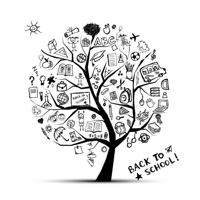 Download Tree Of Knowledge, Concept Of School Stock Vector - Image: 21035692