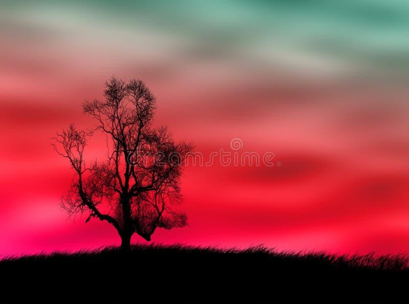 Tree landscape royalty free illustration
