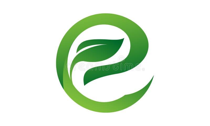 Tree leaf letter E logo stock illustration